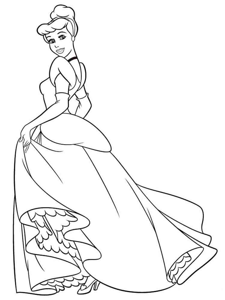 Cinderella coloring pages. Download and print Cinderella coloring ...