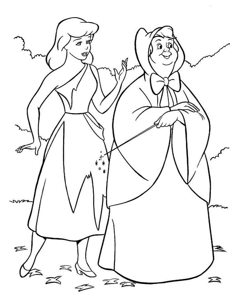 Cinderella coloring pages. Download and print Cinderella ...