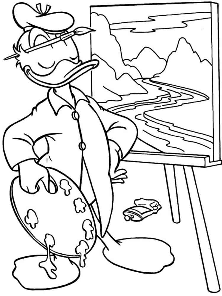 Daisy And Donald Duck Coloring Pages