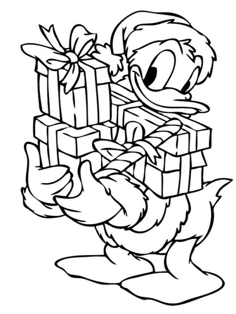 www coloring pages com christmas - donald and daisy duck coloring pages download and print