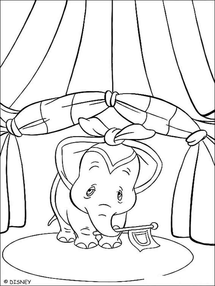 dumbo coloring pages 10 - Dumbo Pictures To Color