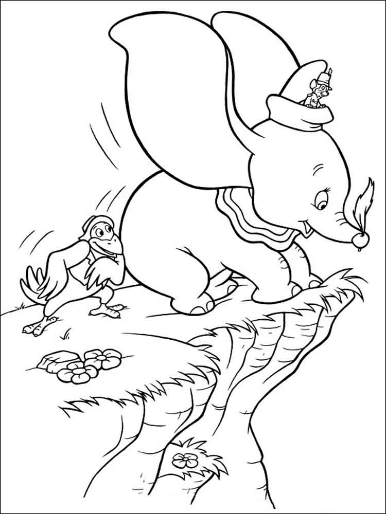Dumbo coloring pages Download and print Dumbo coloring pages
