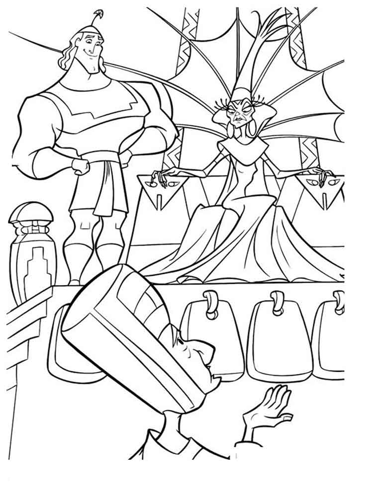 The Emperor S New Groove Coloring Pages Download And