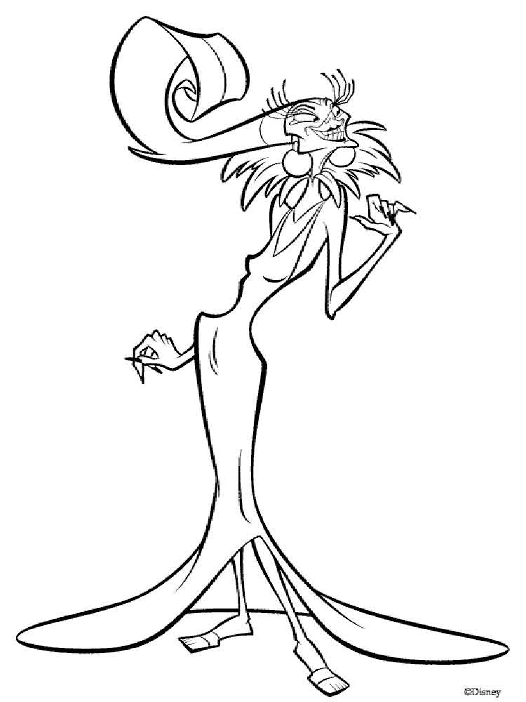emperors new groove coloring pages 2 - Coloring Pages Com 2