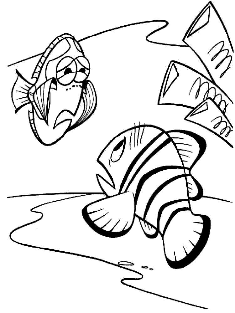 finding nemo coloring pages 13 - Finding Nemo Coloring Book