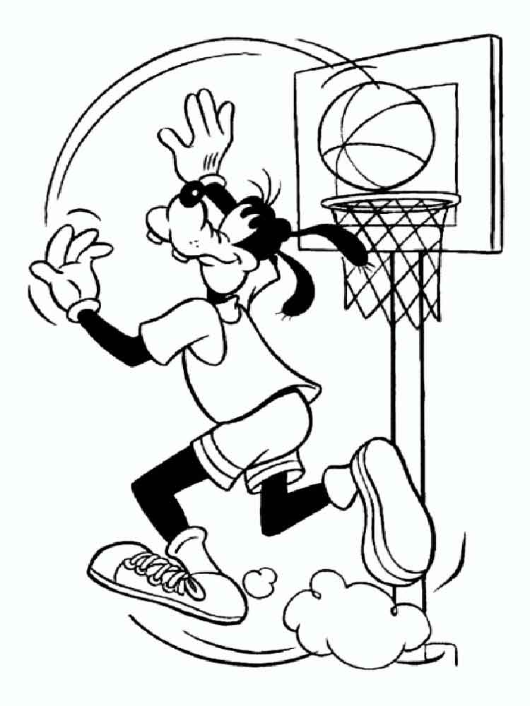 Goofy coloring pages Download and print Goofy coloring pages