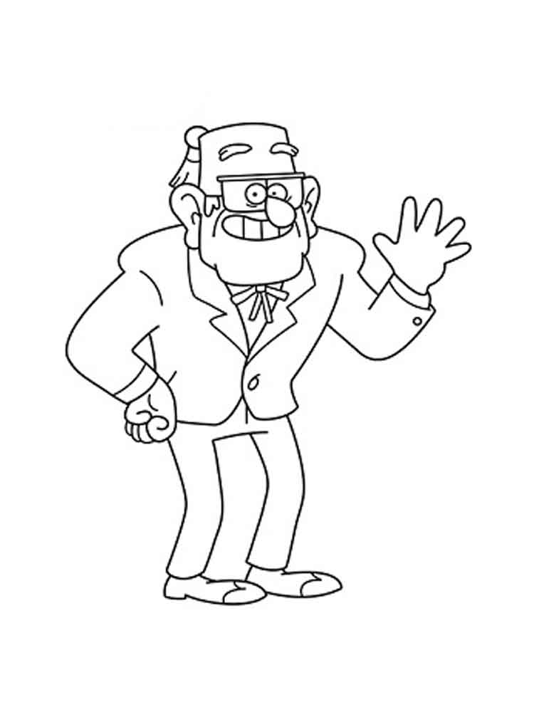 gravity falls coloring pages free - photo#17