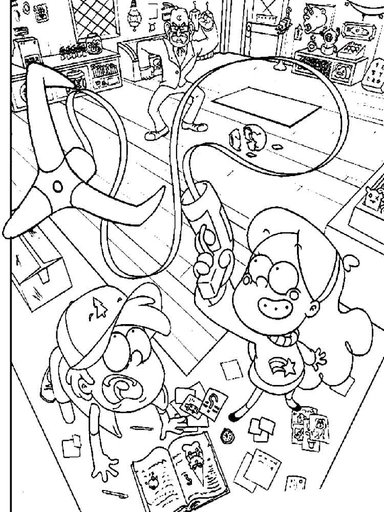 Gravity Falls Coloring Pages Free Printable Gravity Falls Coloring