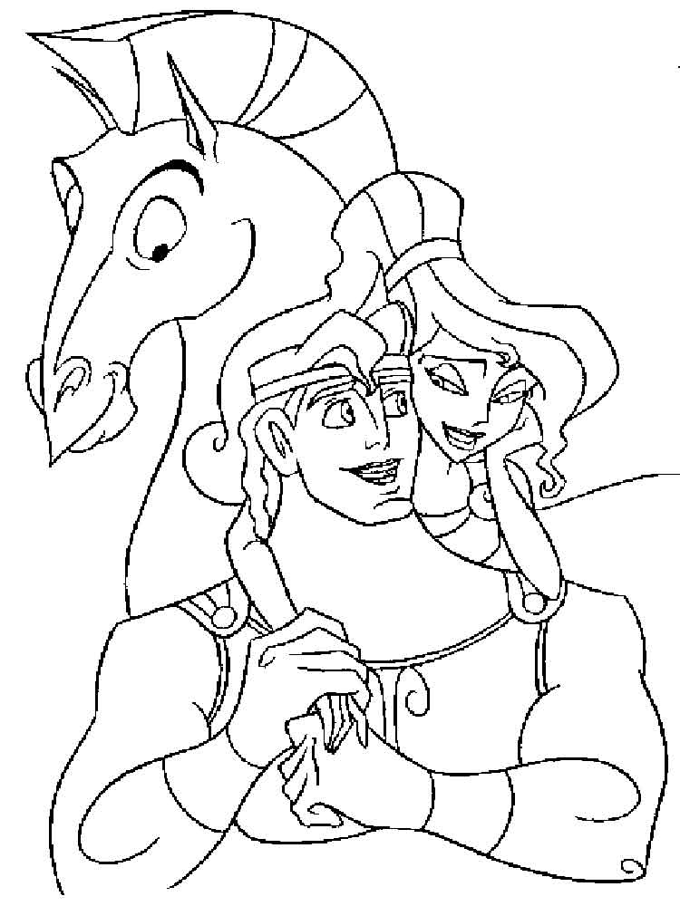 Hercules coloring pages. Download and print Hercules coloring pages