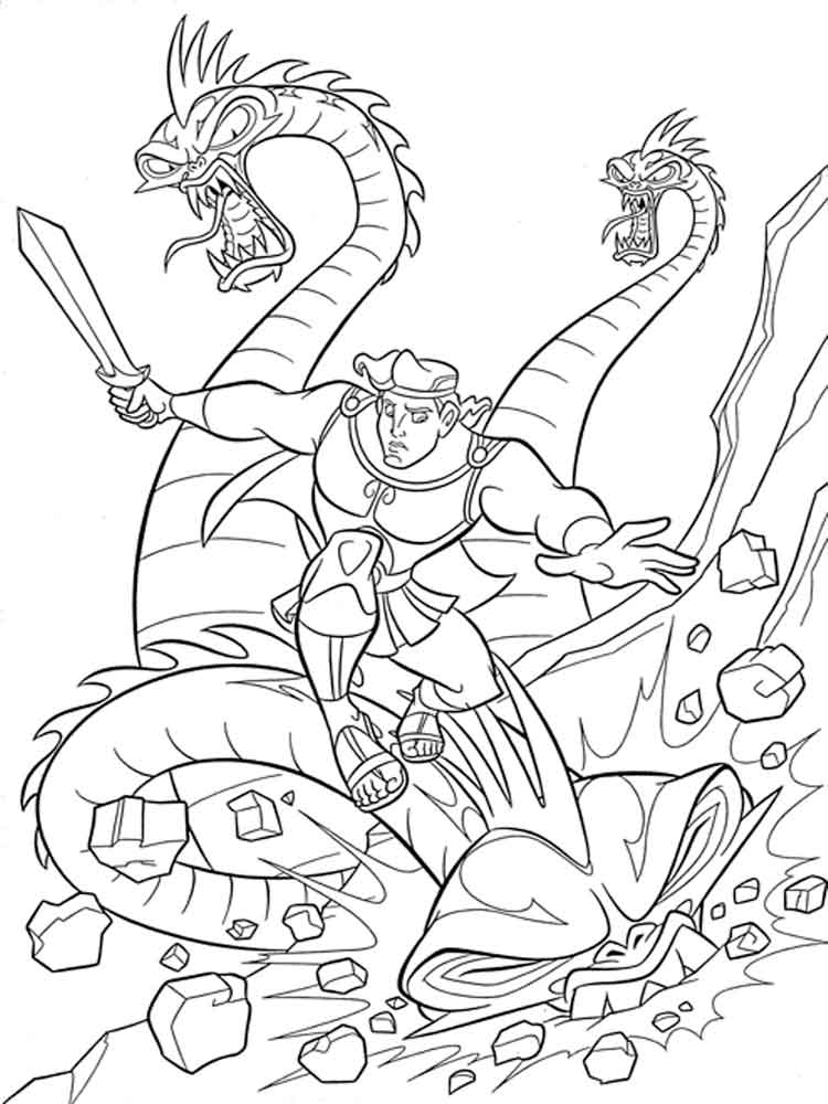 Hercules Coloring Pages Download And Print Hercules
