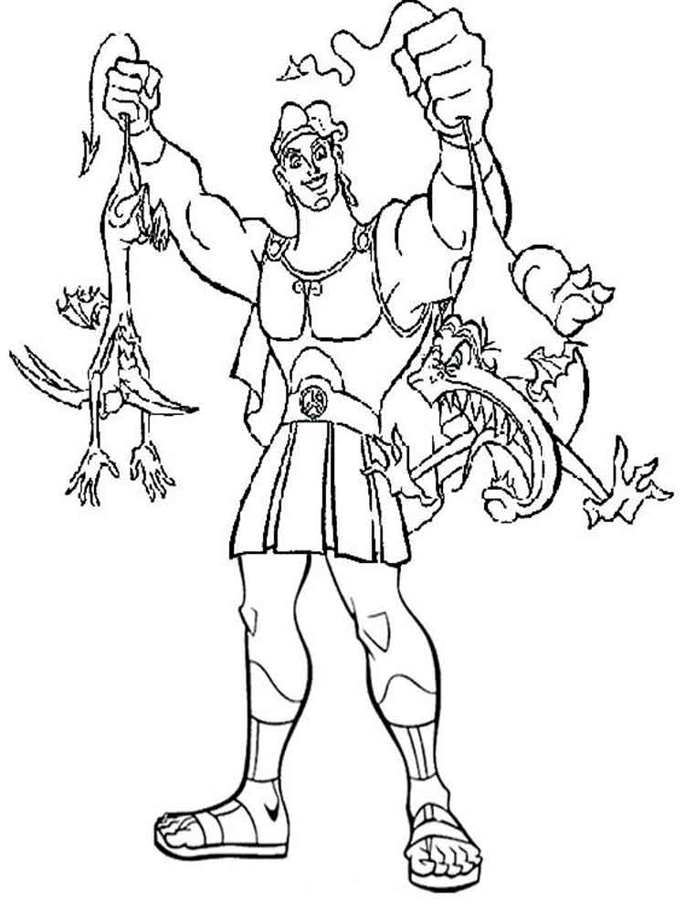 Hercules Coloring Pages Disney - Coloring Home | 1000x750