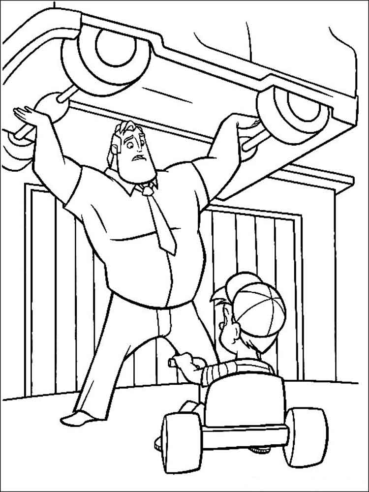 incredibles coloring pages 11 - Incredibles Coloring Page