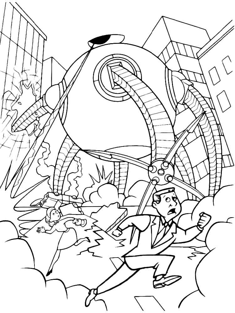 The incredibles coloring pages download and print the for Disney incredibles coloring pages