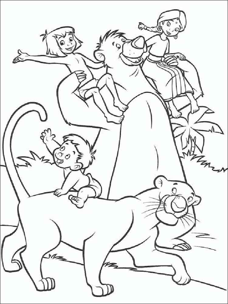 jungle book coloring pages. download and print jungle book ... - Disney Jungle Book Coloring Pages