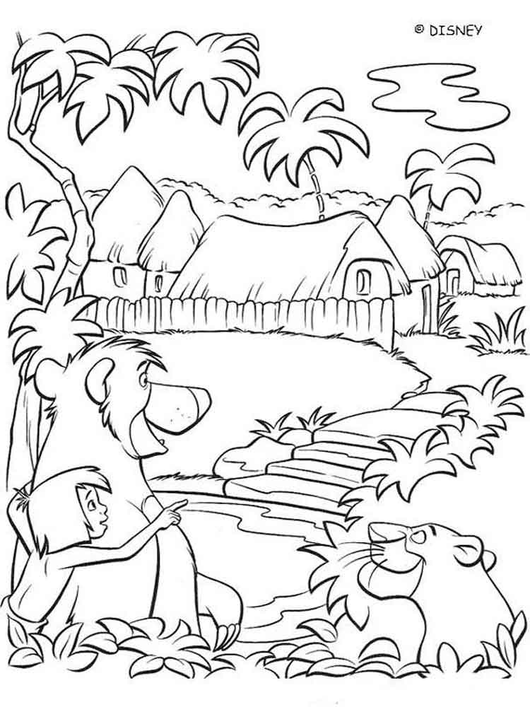 jungle book coloring pages download and print jungle book coloring