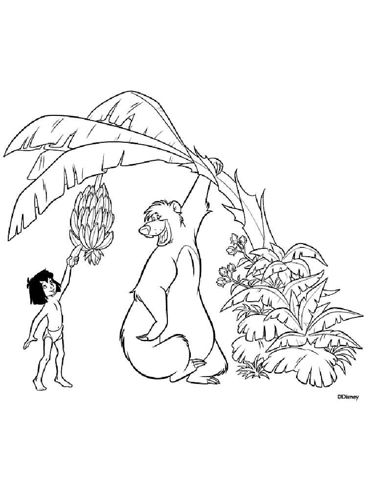 Jungle Book coloring pages. Download and print Jungle Book coloring ...