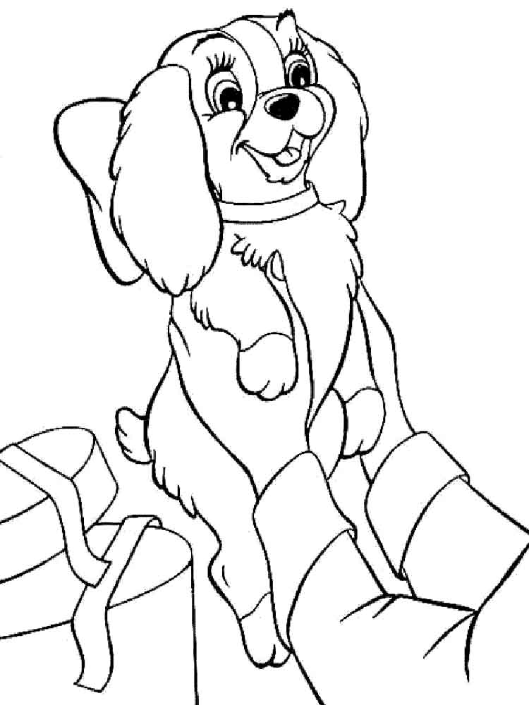 lady the tramp coloring pages - photo#30