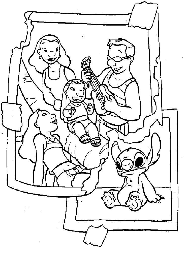 Stitch Coloring Pages For Adults