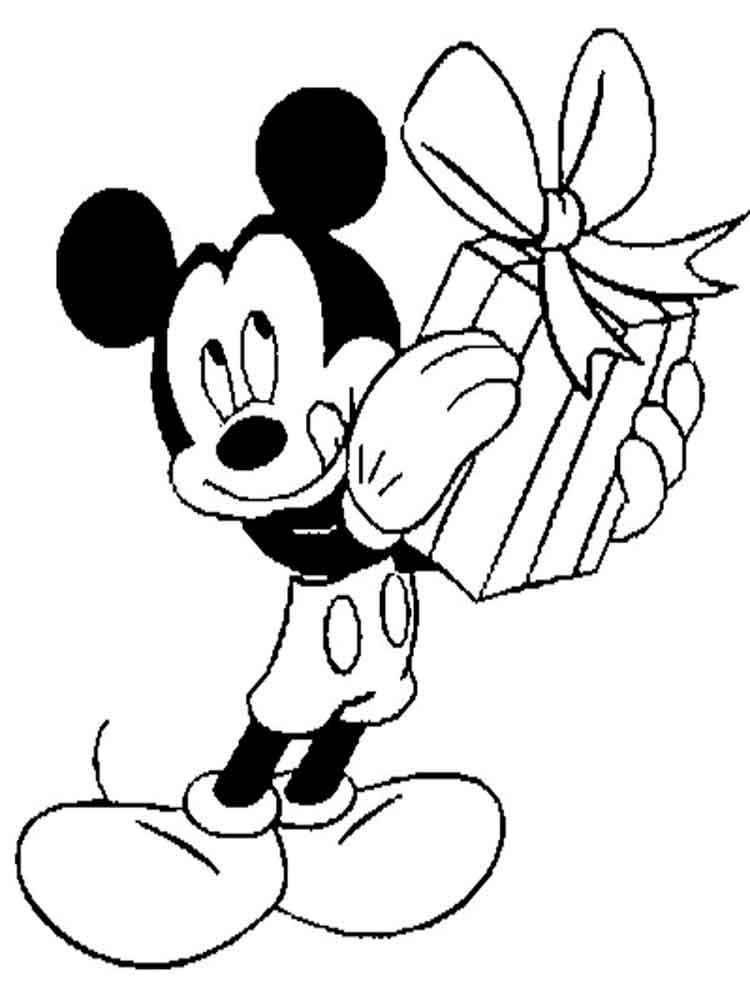 mickey and minnie mouse coloring pages 12 - Mickey Mouse Color Pages