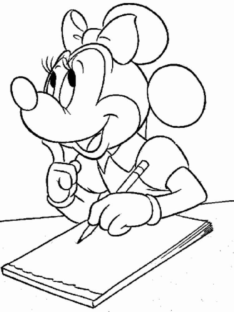 HD wallpapers coloring pages disney minnie mouse