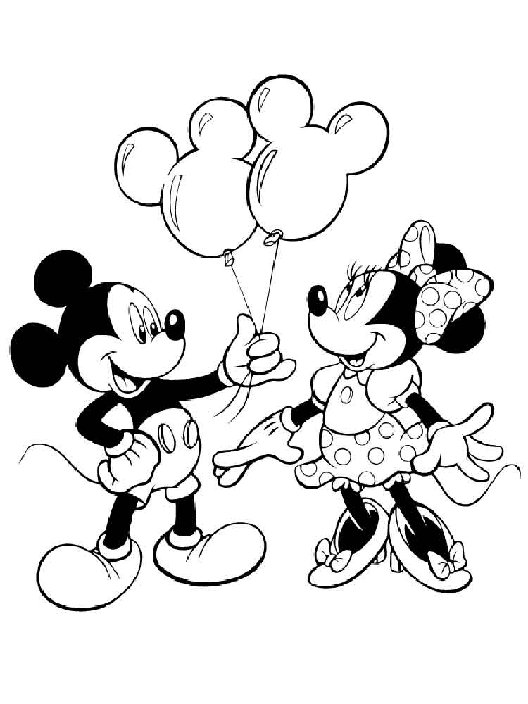 Free Printable Mickey and Minnie Mouse coloring pages