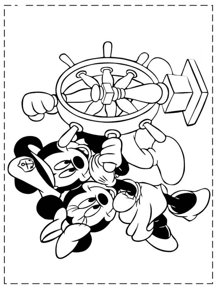 Free Printable Coloring Pages Mickey Mouse And Minnie
