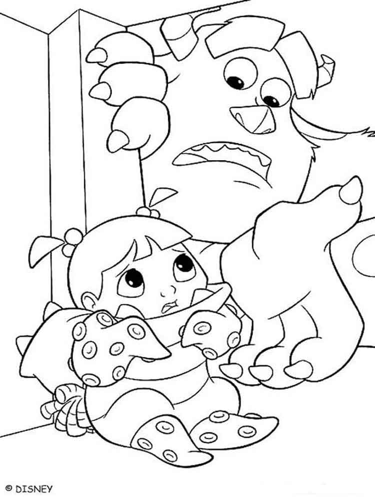monster inc coloring pages 2