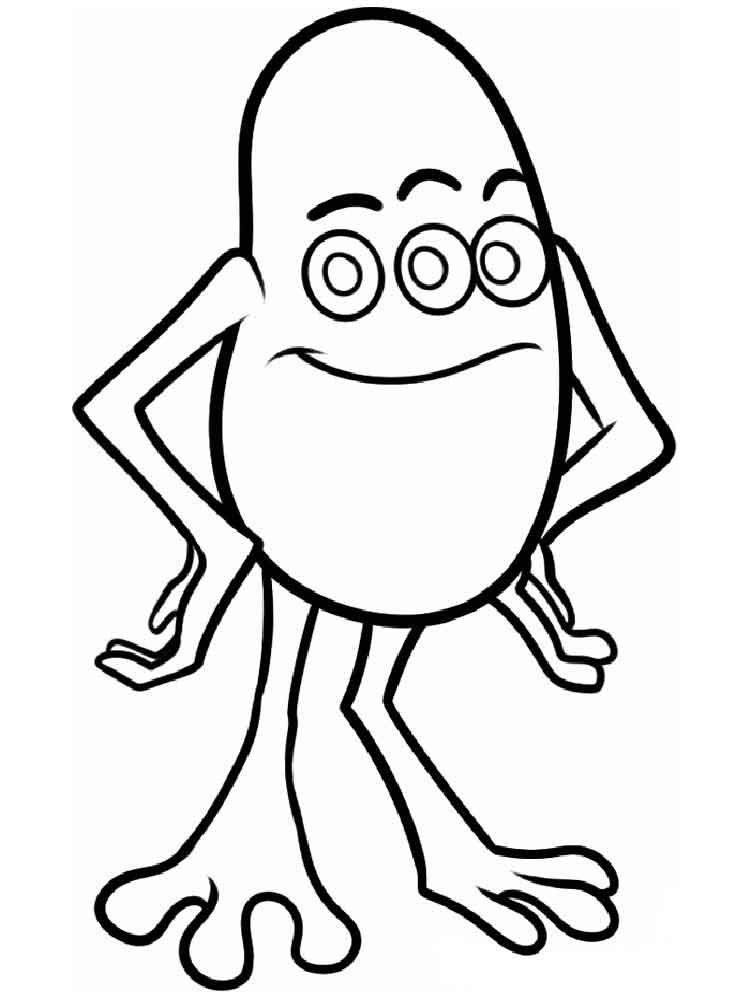 Monsters inc coloring pages download and print monsters for Monster coloring pages