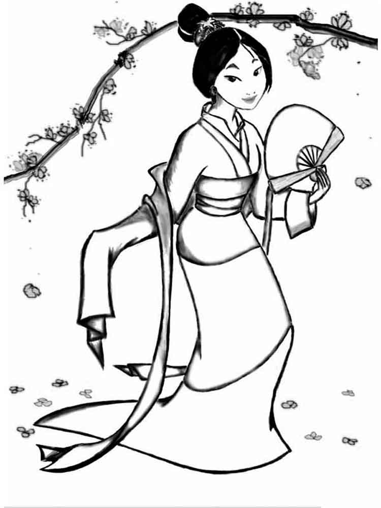 Mulan coloring pages Download