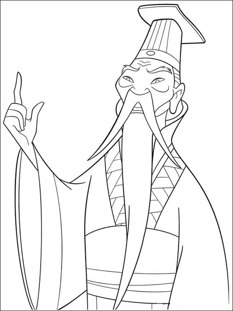 mulan coloring pages 11