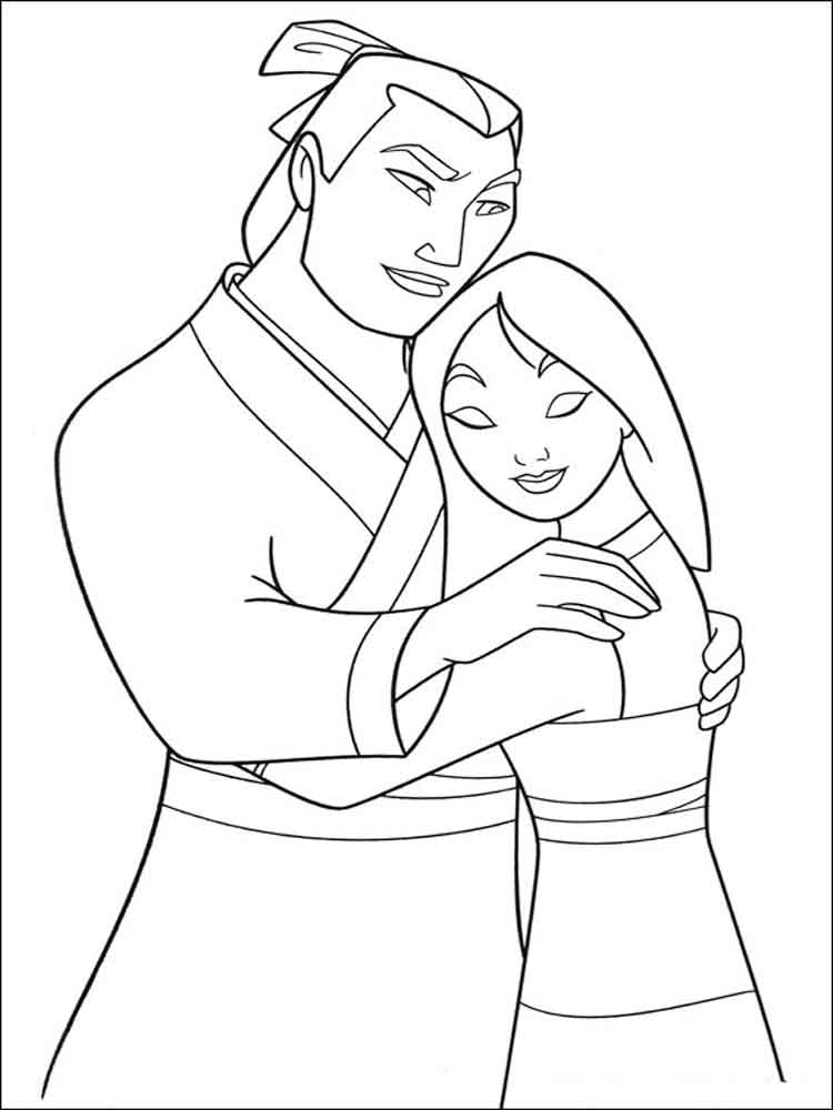 Mulan coloring pages Download and print Mulan coloring pages