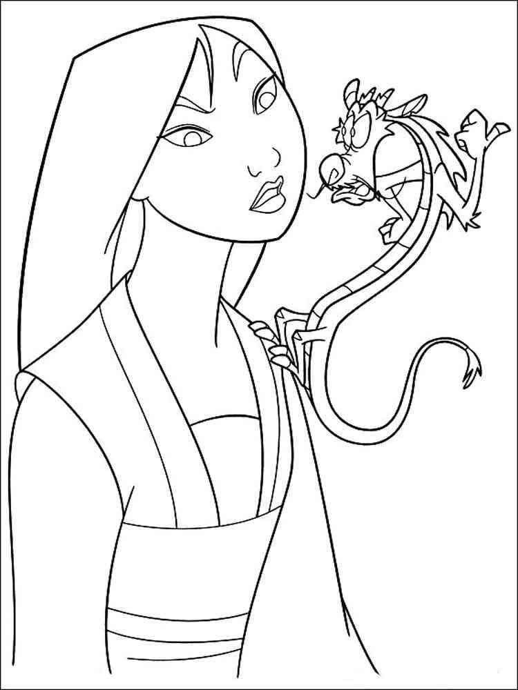 mulan coloring pages download and print mulan coloring pages