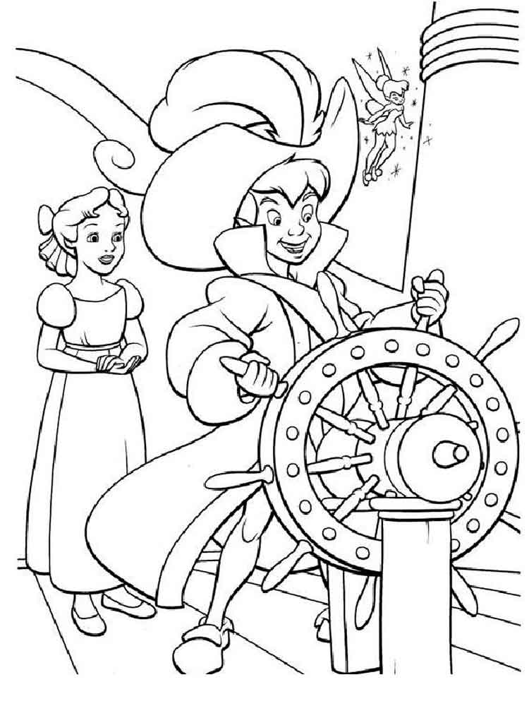 Peter Pan Coloring Pages Download And Print Peter Pan Coloring Pages