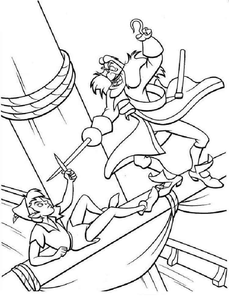 printable peter pan coloring pages   Peter Pan coloring pages. Download and print Peter Pan ...