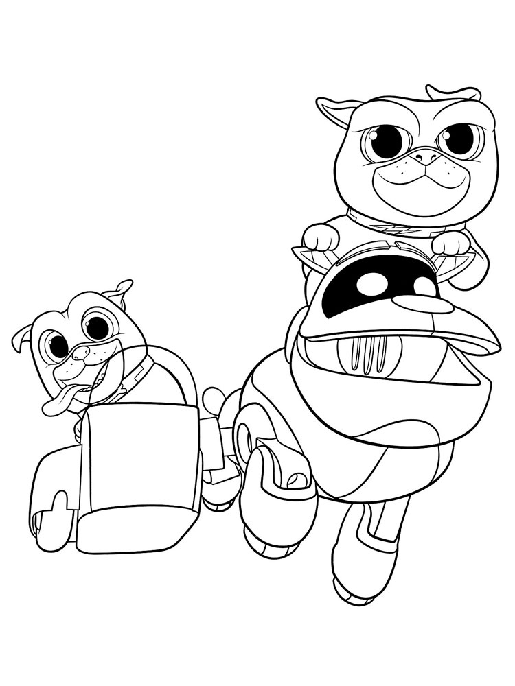 Puppy Dog Pals coloring pages. Download and print Puppy ...