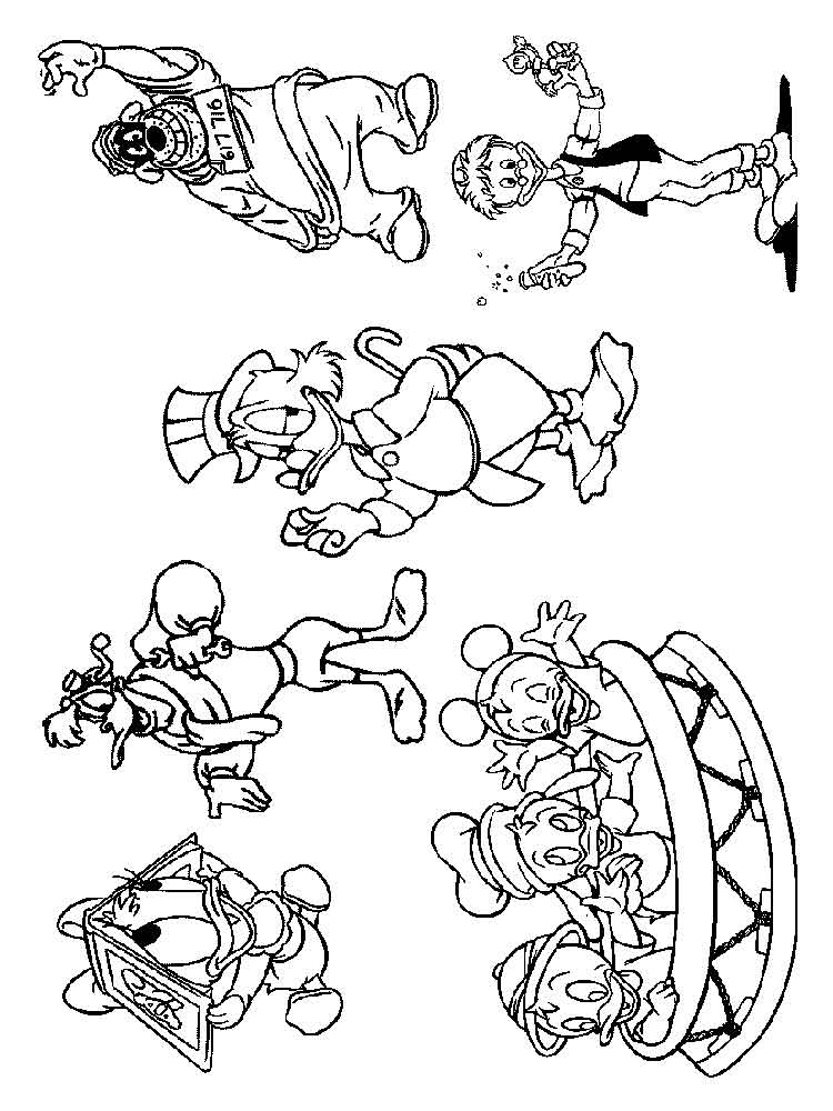 Scrooge Mcduck Coloring Pages Download And Print Scrooge Mcduck