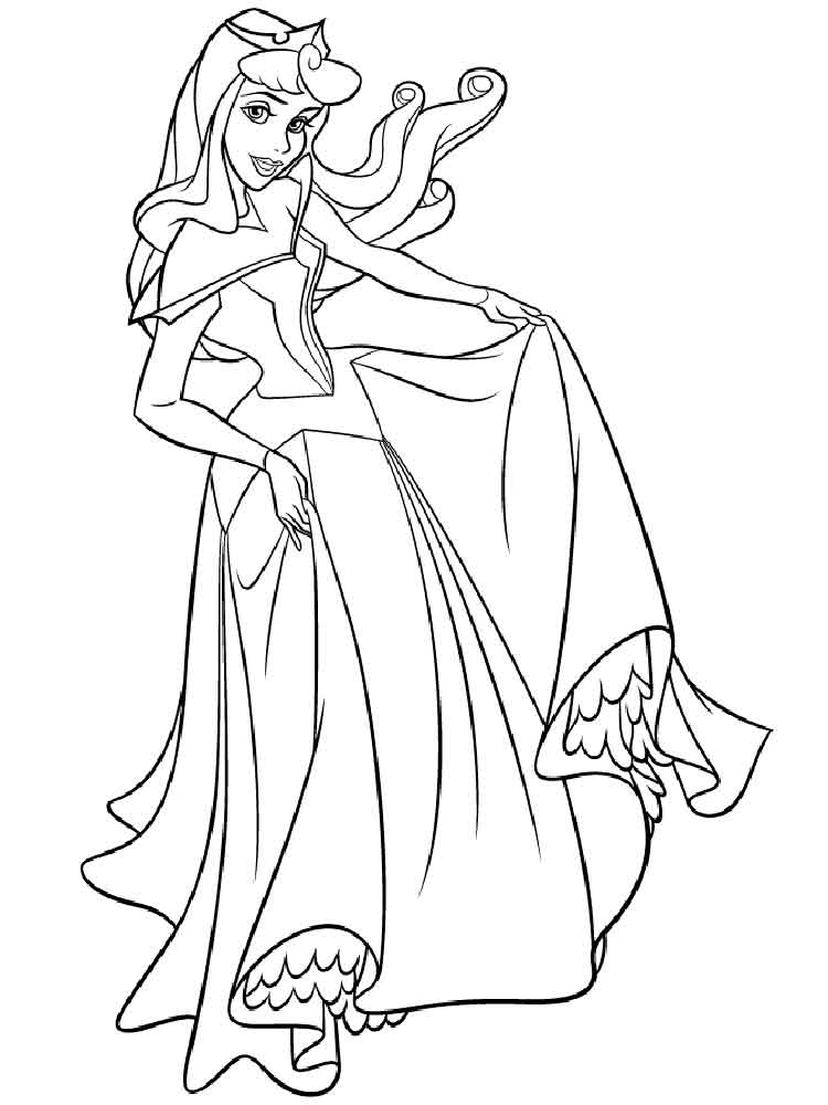 free coloring pages sleeping beauty - photo#16