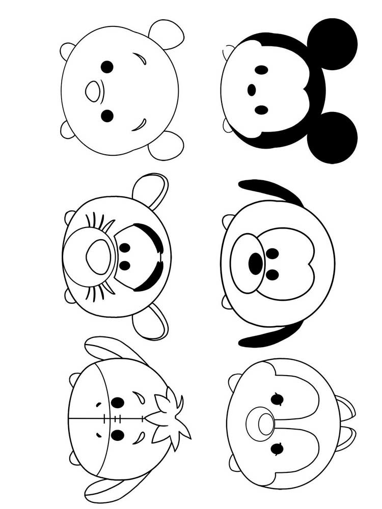 - Tsum Tsum Coloring Pages. Download And Print Tsum Tsum Coloring Pages
