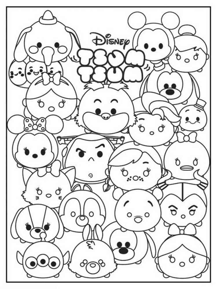 Tsum Tsum coloring pages. Download and print Tsum Tsum ...