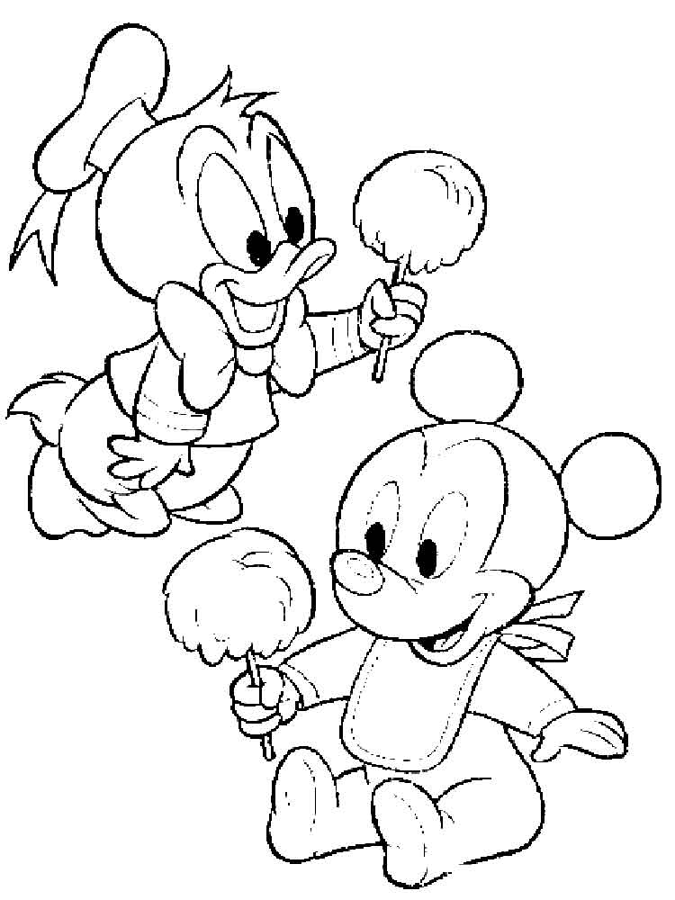 Baby Disney coloring pages Free