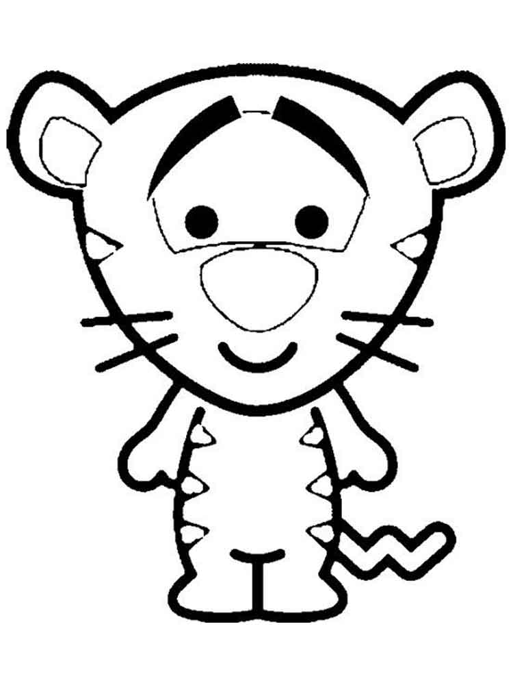 Cute Disney Coloring Pages. Free Printable Cute Disney