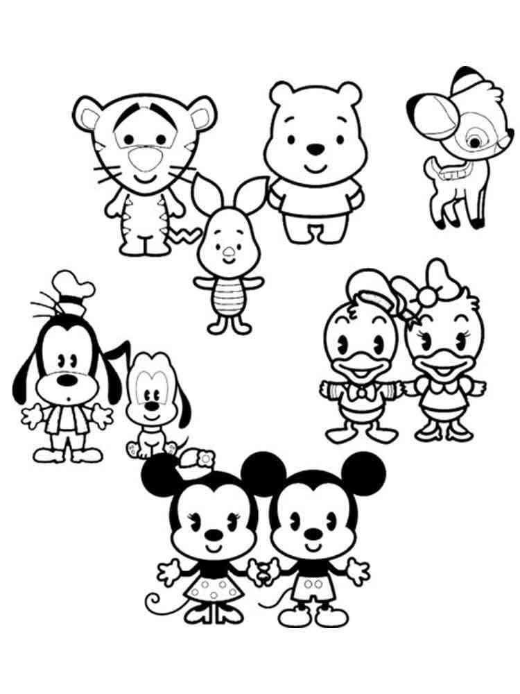 Cute Disney coloring pages. Free Printable Cute Disney ...