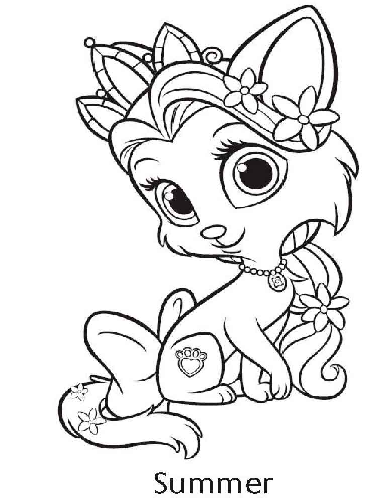 Disney Pets coloring pages for