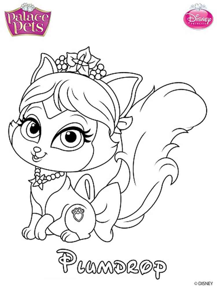 Disney Pets Coloring Pages For Kids Free Printable Disney