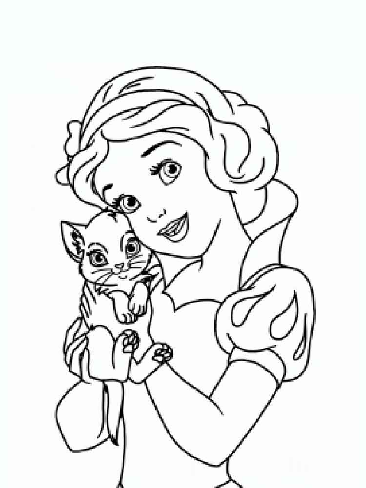 Disney princess coloring pages to print Free Disney