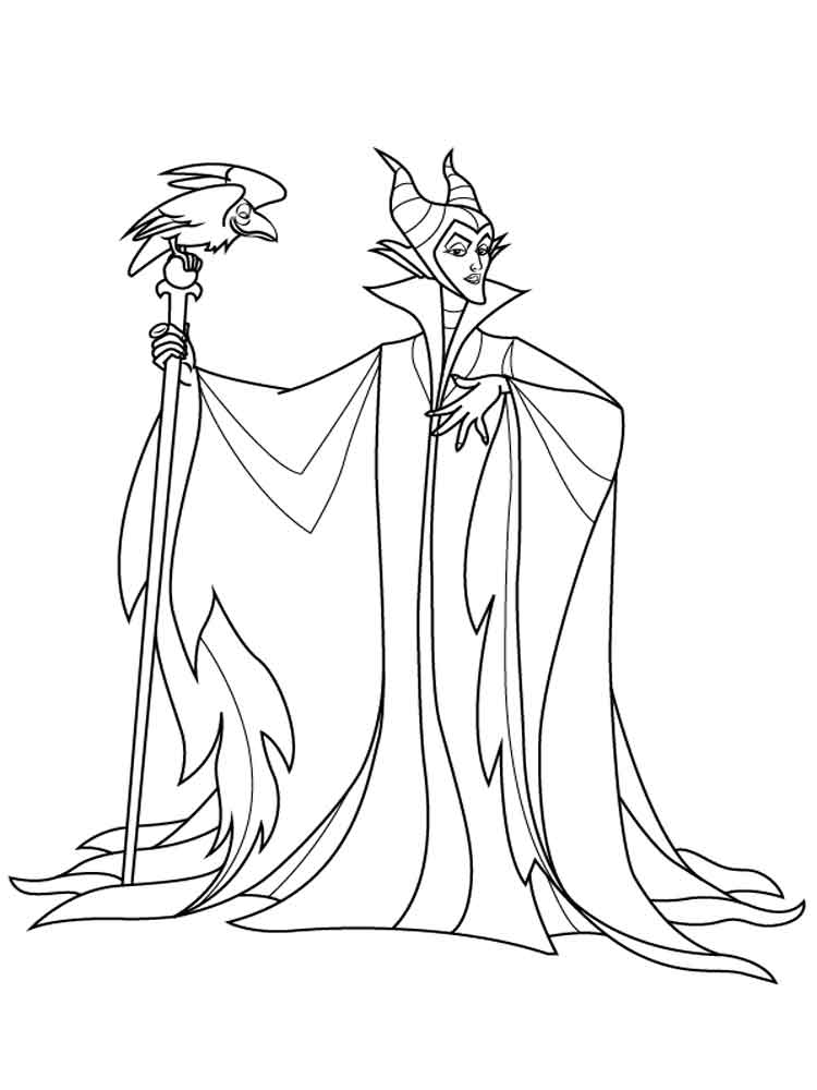 Maleficent Coloring Pages For Kids Free Printable
