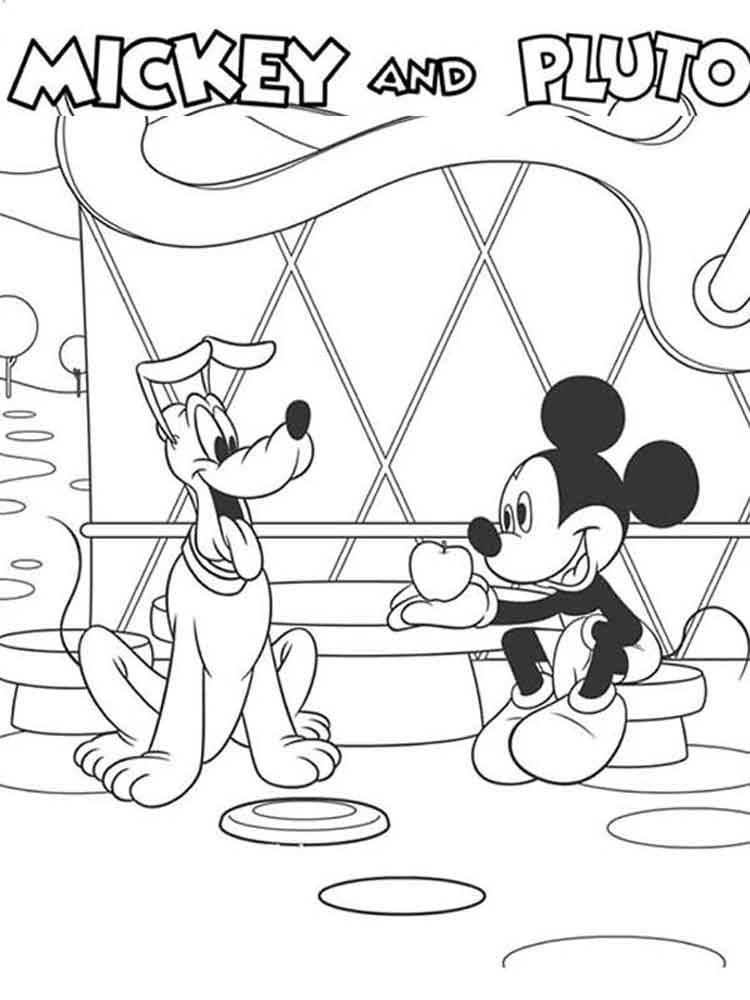 - Mickey Mouse Clubhouse Coloring Pages For Kids. Free Printable Mickey Mouse  Clubhouse Coloring Pages.