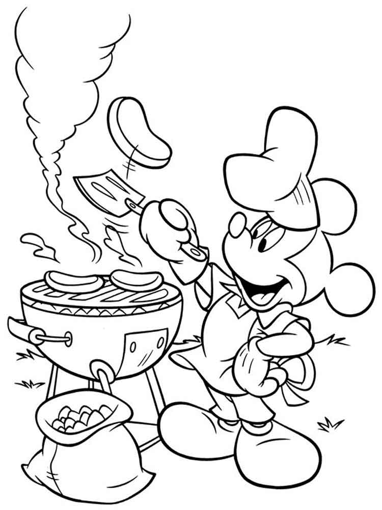 Mickey mouse clubhouse coloring pages for kids free for Mickey clubhouse coloring pages