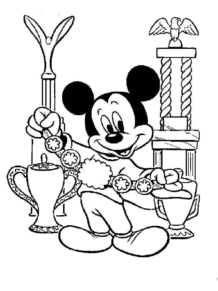 Mickey Mouse clubhouse coloring pages for kids. Free Printable Mickey Mouse clubhouse coloring ...