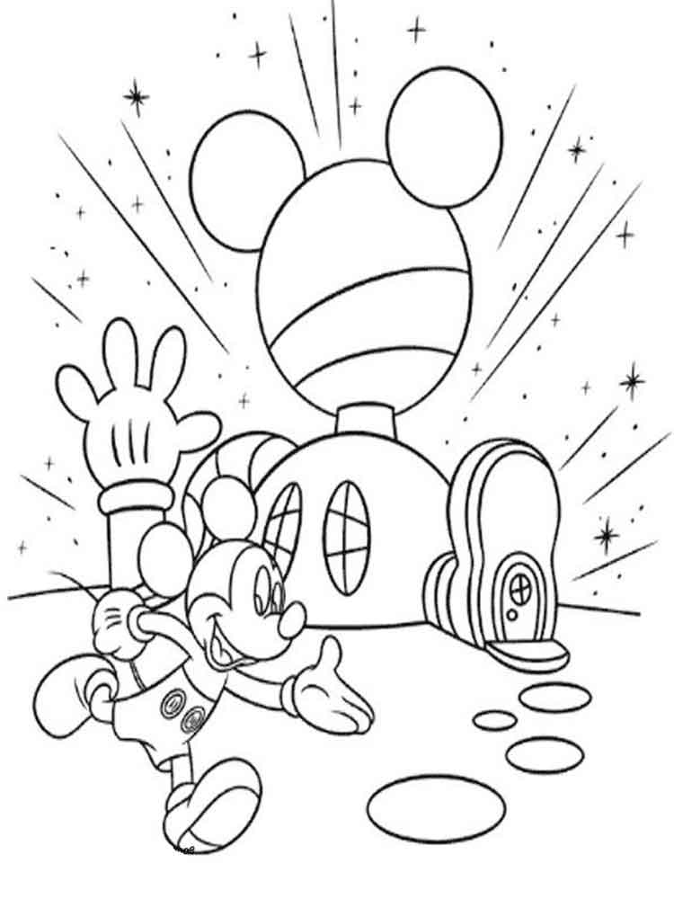 Mickey Mouse clubhouse coloring pages for kids Free